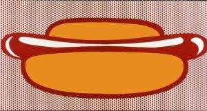 30-_Roy_Lichtenstein_-_Hot_Dog_-_1963_-_50_8x91_4cm[1]