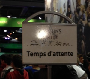 Temps d'attente pour essayer  Assassin's Creed Unity
