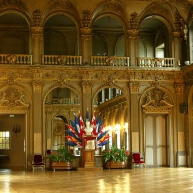 Le Grand salon de l'Hôtel de ville. DR