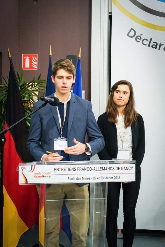 """Le """"chancelier"""" allemand et la """"présidente"""" française. DR"""