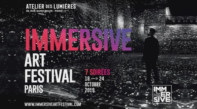 Affiche festival art immersif